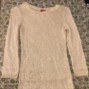 Chan Luu beige sequin top